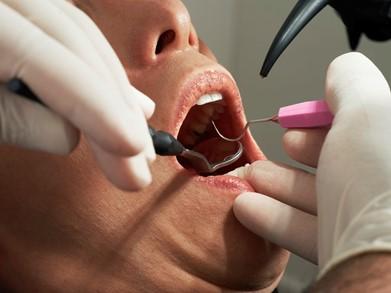 A person receiving dental care